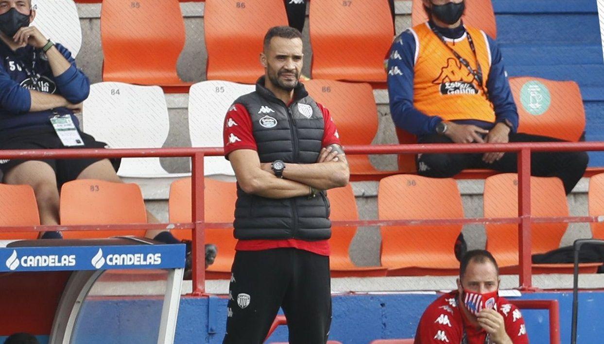 Juanfran en su estancia en el CD Lugo