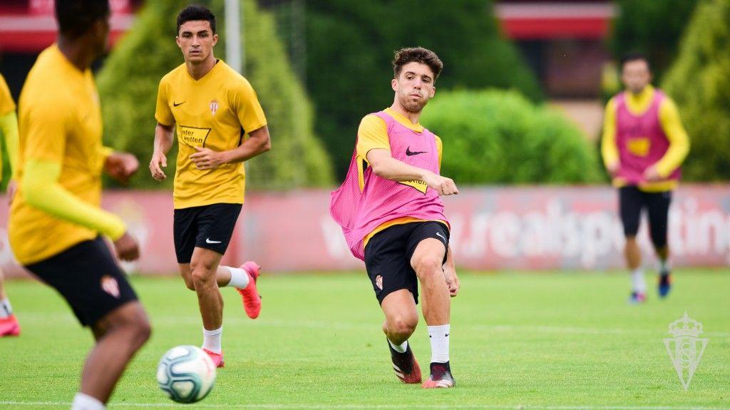 Nacho Méndez en un entrenamiento