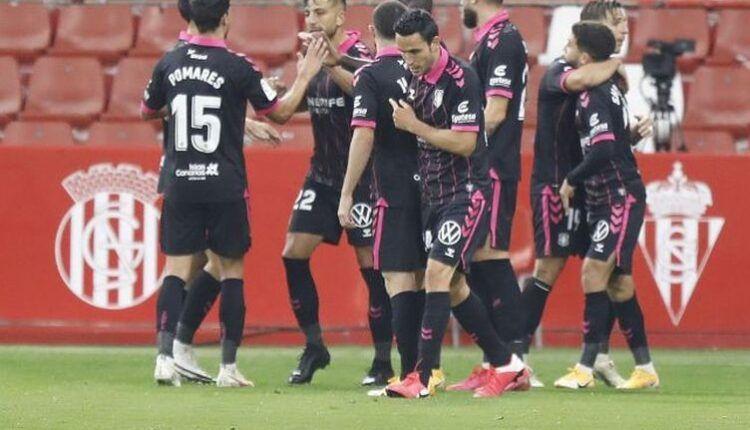 Jugadores del CD Tenerife celebrando un gol