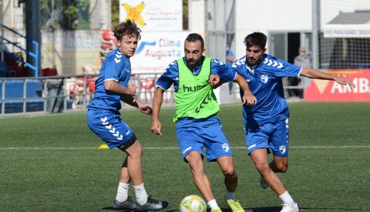 De Lerma,en una sesión de entrenamiento con el CD Ebro