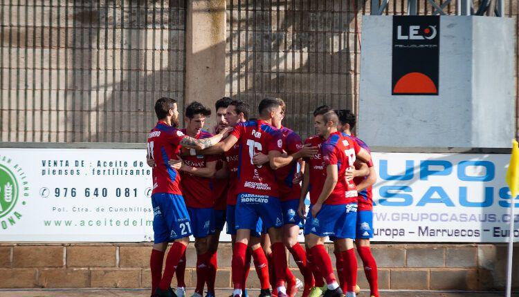 El Tarazona celebra el gol de la pasada jornada ante el Osasuna Promesas