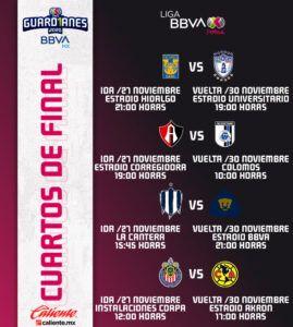 Horarios liguilla Liga MX Femenil