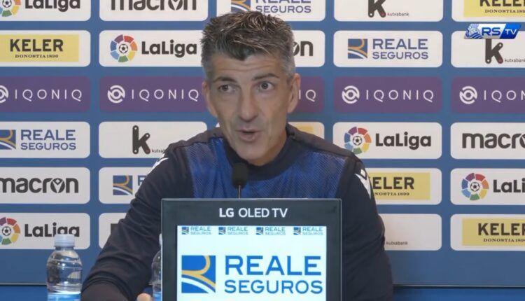 Imanol Alguacil detalló en rueda de prensa lo que espera del partido ante el Cádiz