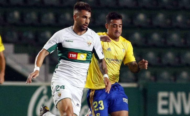 Josema en un partido frente al Cádiz