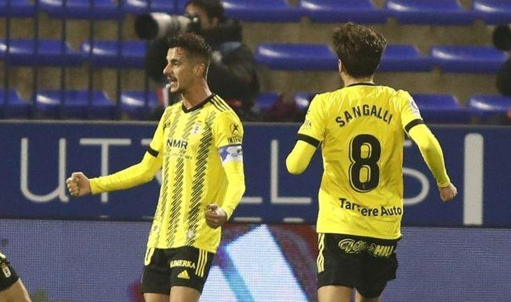Sergio Tejera celebrando un gol