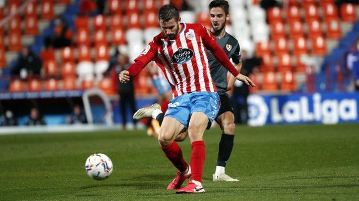Frederico Venancio en el partido frente al Rayo