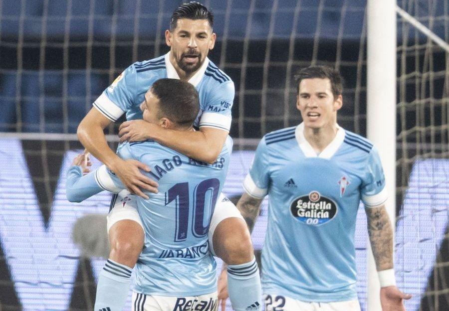 Nolito, Iago Aspas y Santi Mina
