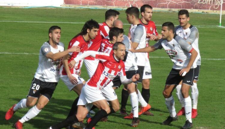 Lance del encuentro entre Tudelano-Logroñés disputado el pasado 3 de enero