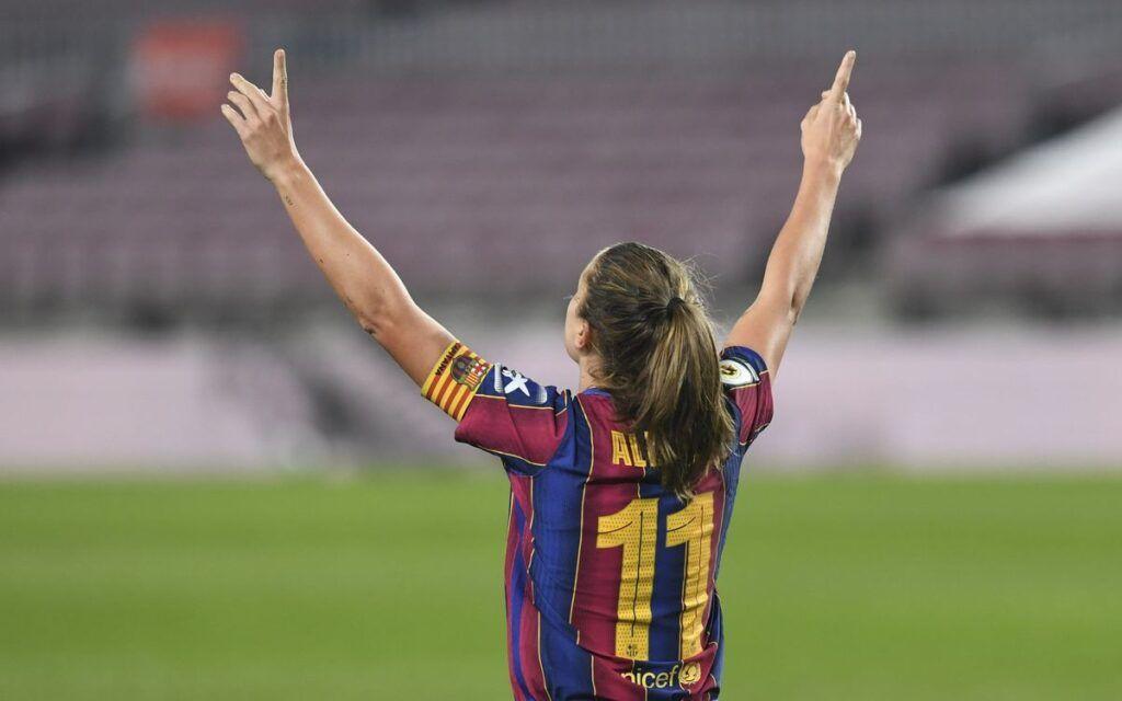Alexia Putellas celebrando el gol