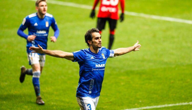 Alejandro Arribas celebra su gol al RCD Mallorca