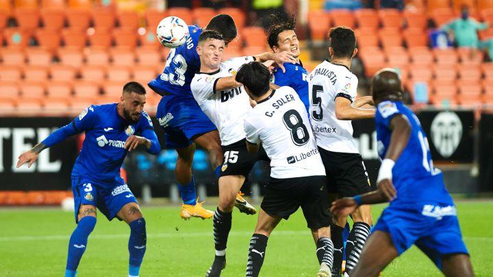 El encuentro de la primera vuelta acabó 2-2, con goles de Musah y Soler para el Valencia y Cucho y Ángel para el Getafe| F: Diario AS
