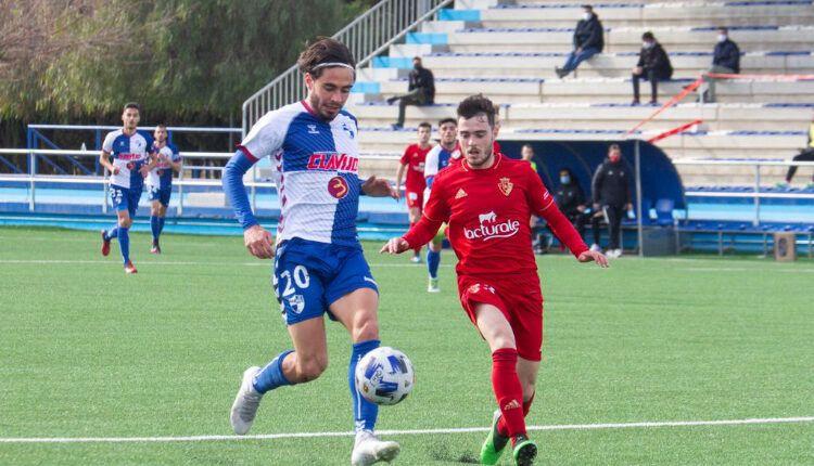 Lance del juego entre Ebro y Osasuna Promesas de la pasada jornada