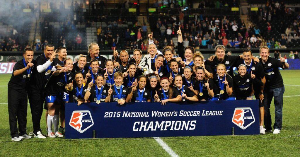 FC Kansas City ganador de la NWSL en 2015 Foto vía web thebluetestament.com