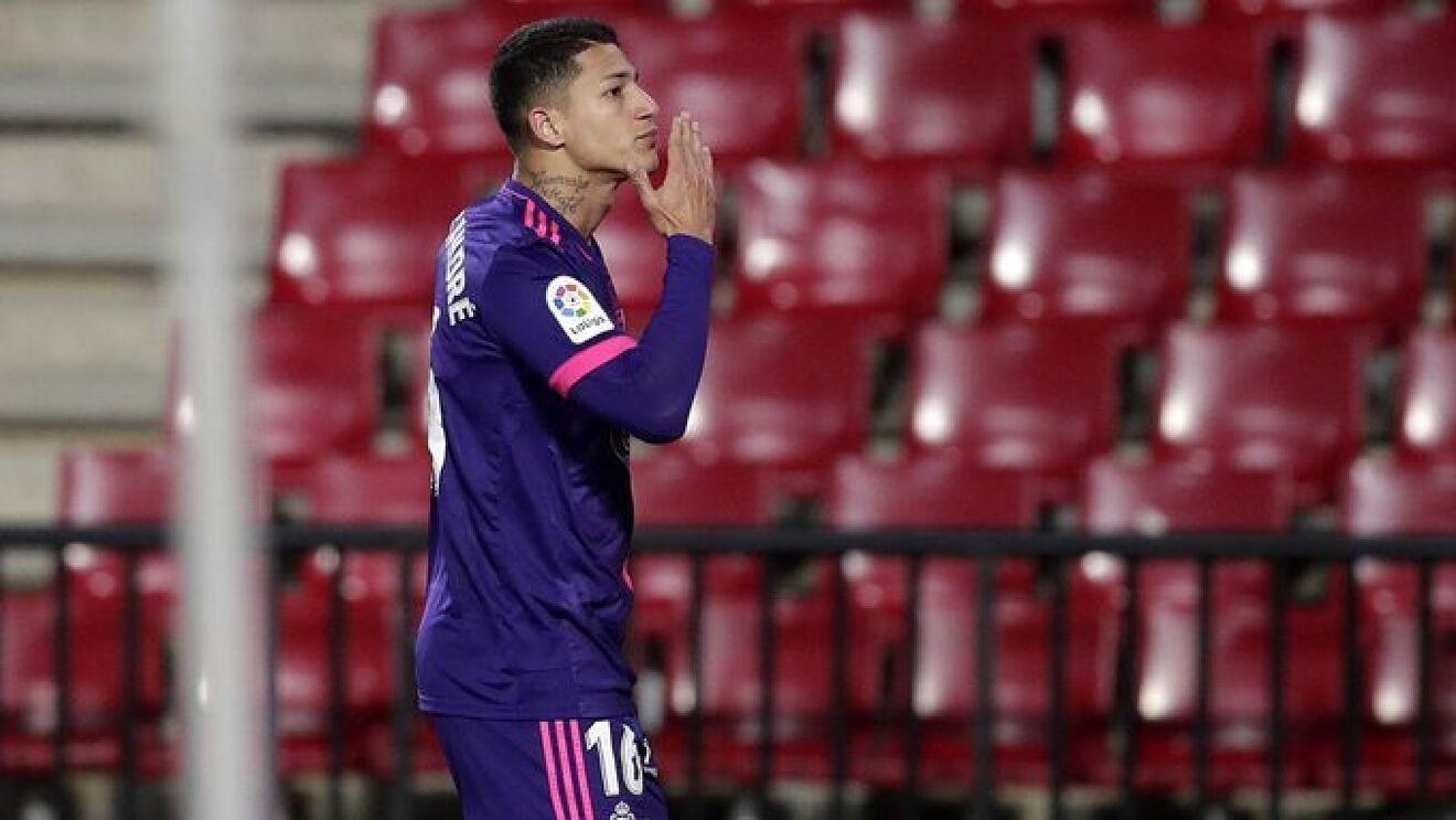 Marcos André con el Real Valladolid