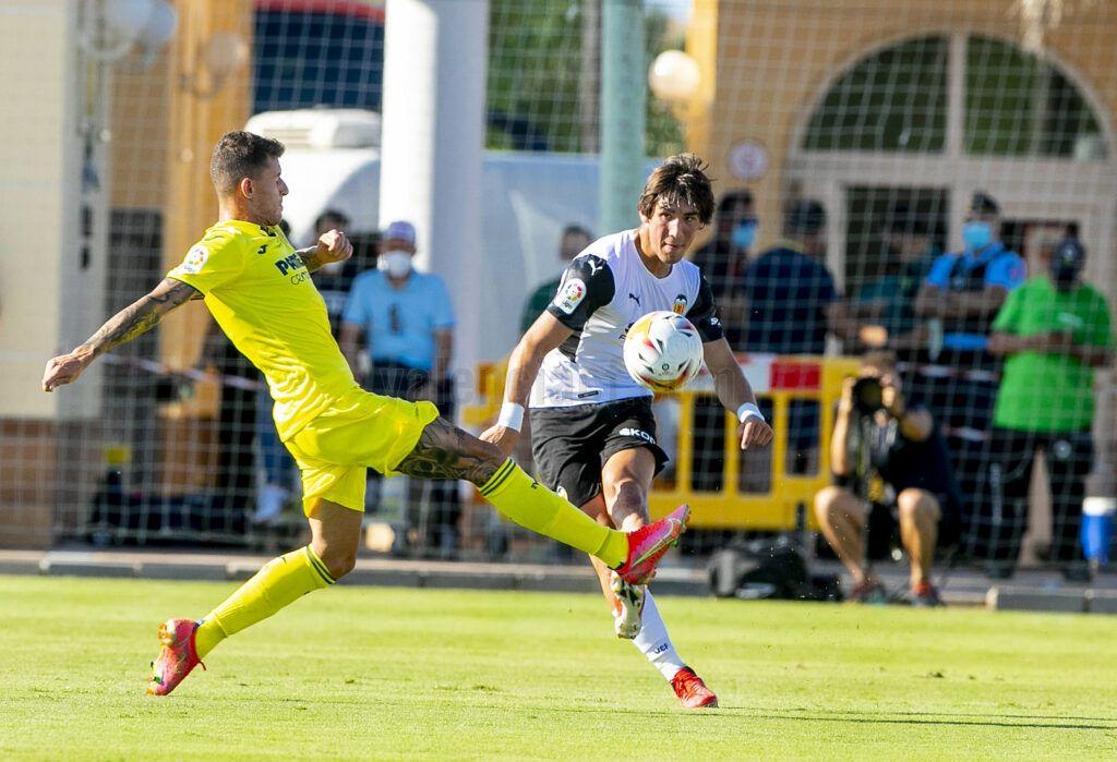 Jesús Vázquez y Dani Raba disputaron un total de 45 minutos  F: Valencia CF