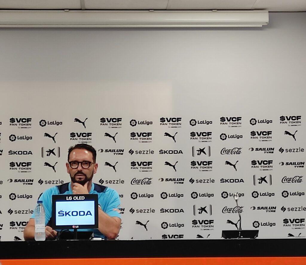 José Bordalás en rueda de prensa  José Antonio Lafuente