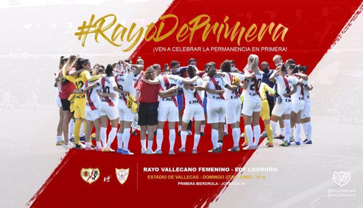 Imagen de la celebración de la salvación del Rayo Féminas.