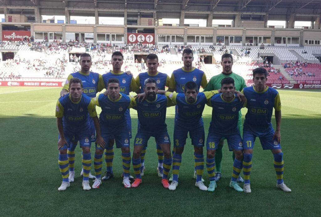 11 del Real Unión en su partido en Las Gaunas. Foto del Real Unión club.