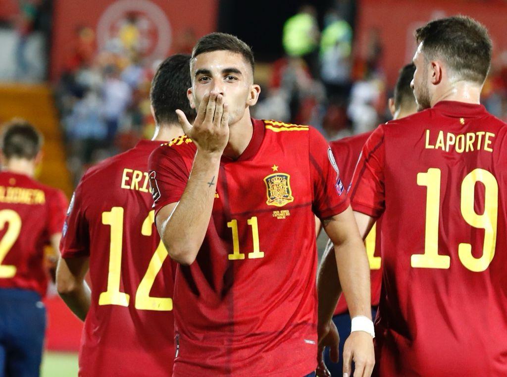 Ferrán Torres no faltó en su cita con el gol| Real Federación de Fútbol Española