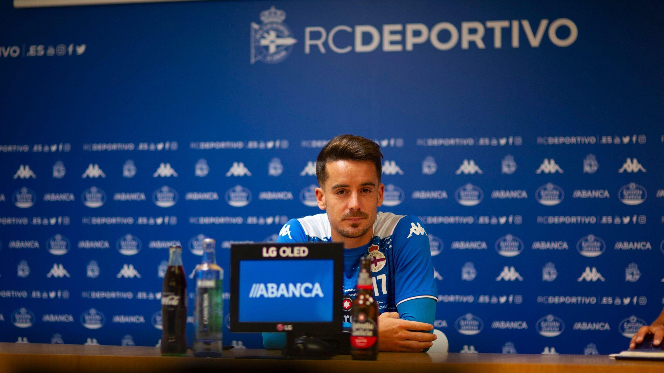 Rueda de prensa Rafa de Vicente. Foto: RC Deportivo